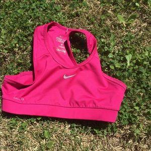 Nile hot pink sports bra size large